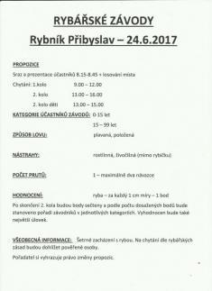 Rybářské závody 24.6.2017