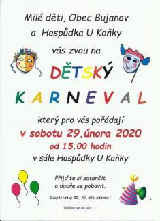 Maškární karneval 29.2.2020